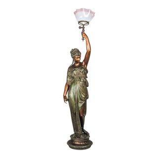 """MITCHELL VANCE & CO."" Goddess Newel Post Lamp"
