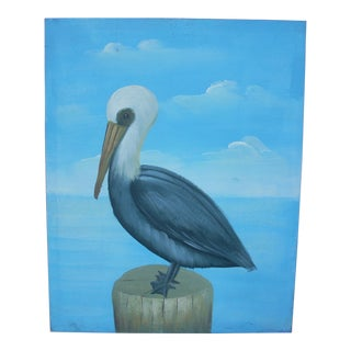 Pelican Oil on Canvas Painting