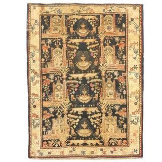 Rare Antique 19th Century Persian Village Rug