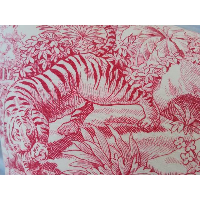 Pierre Frey Elephant Toile Pillow - Image 5 of 7