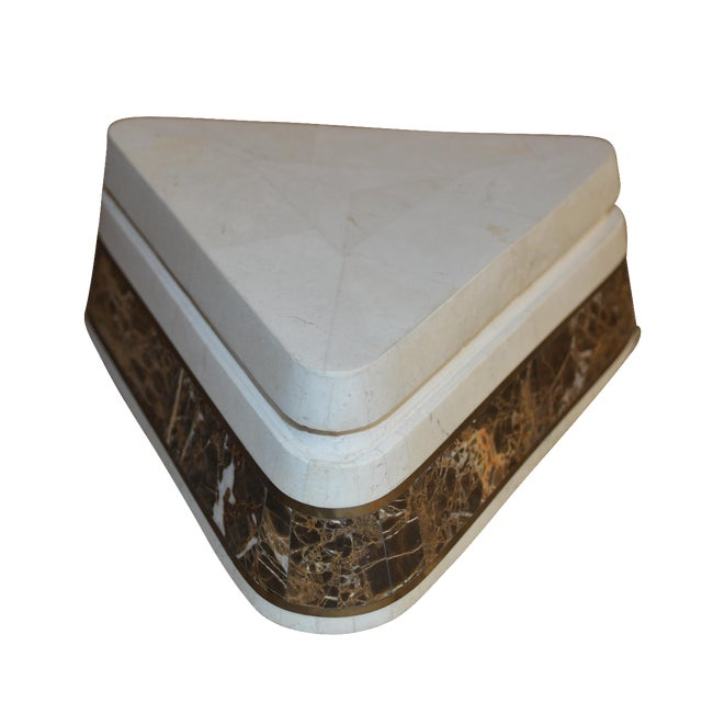 Triangle Tessellated Stone Trinket Box - Image 1 of 11