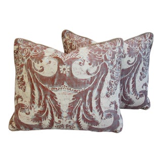 Mariano Fortuny Glicine & Mohair Feather/Down Pillows - a Pair
