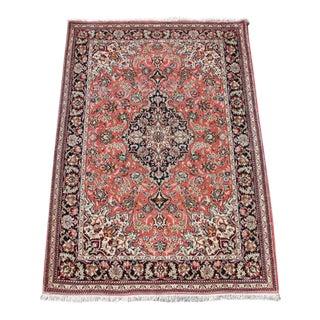 "Quality Silk Persian Rug - 5'1"" x 3'6"""