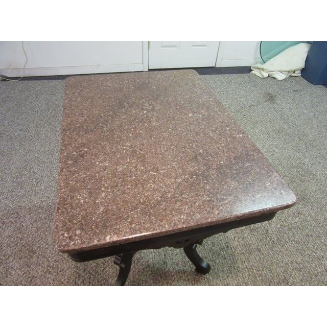 Antique Victorian Marble Top Side/Lamp Table - Image 7 of 11