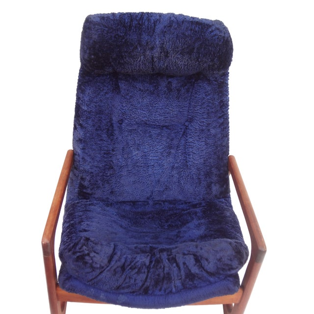 Adrian Pearsall for Craft Blue Lounge Chair - Image 10 of 10