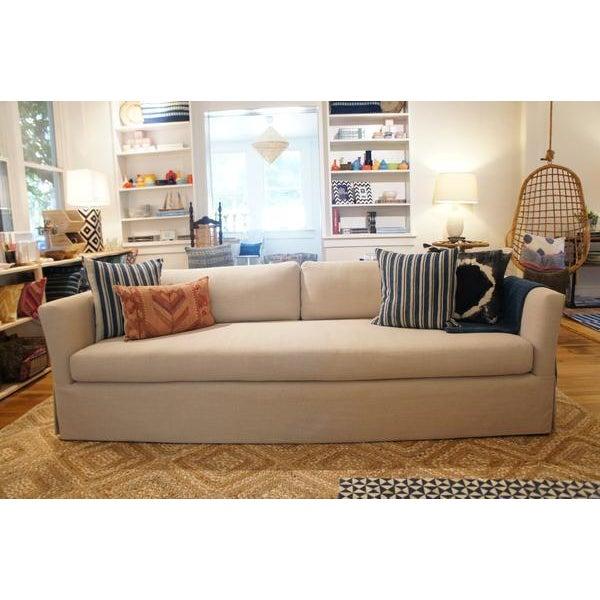 Custom Reupholstered Flair Arm Sofa