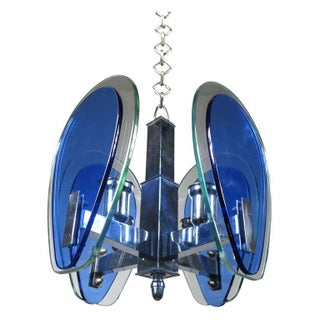 Fontana Arte-Style Two Toned Pendant