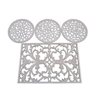 Wrought Iron Garden Drain Grates - Set of 4