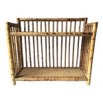 Image of Vintage Scorched Bamboo Rattan Shelf