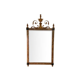 Adams-Style Giltwood And Marbelized Mirror