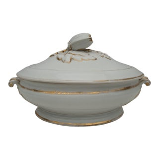 Old Paris French Creamware Porcelain Tureen