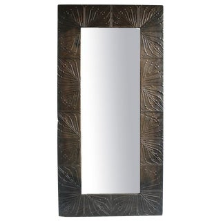 Vintage Metal Panel Mirror