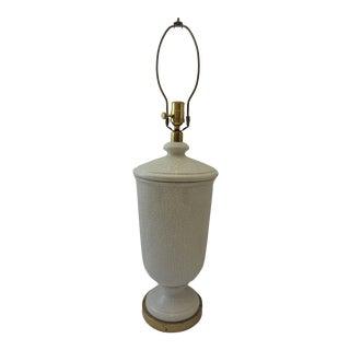 Paul Hanson White Ceramic Crackle Lamp