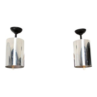 Set of 6 Aluminum Hanging Lamps
