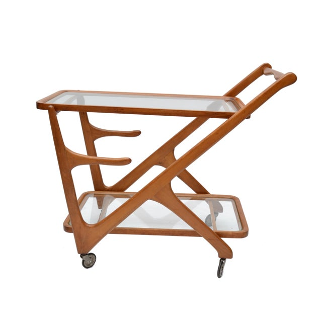 Cesare Lacca Wooden Bar Cart for Cassina, Italy - Image 8 of 8