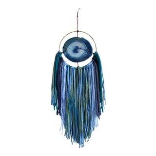 G I N G E R   Modern Blue Agate Wall Hanging