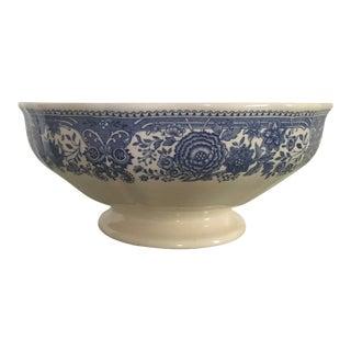 "Pre-1920's Vintage Villeroy & Boch ""Burgenland"" Blue Footed Serving Bowl"