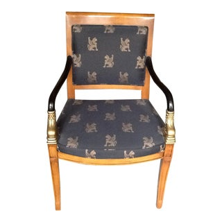 Black & Gold Accent Chair