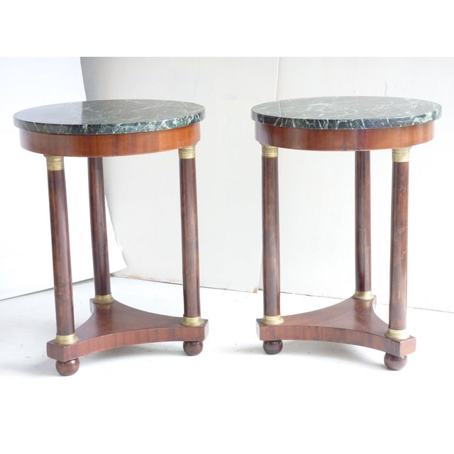 French Empire-Style Side Tables - A Pair - Image 4 of 7