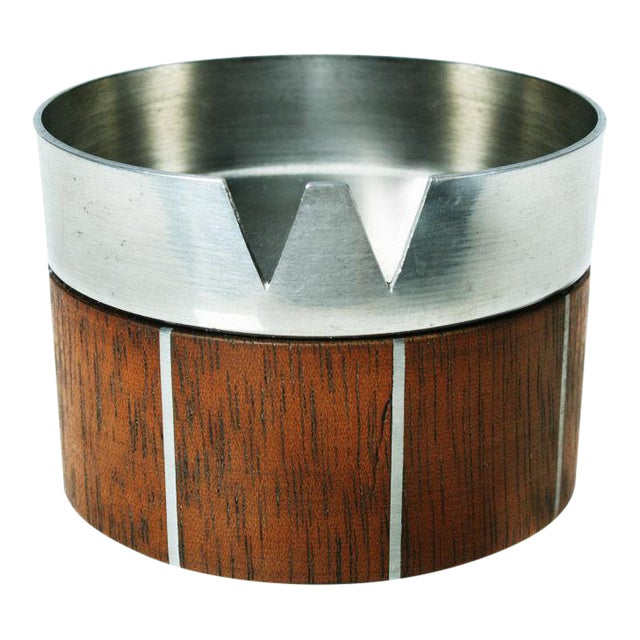 Walnut and Pewter Ashtray by Paul Evans - Image 1 of 7