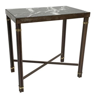 Black Marble & Iron Side Table