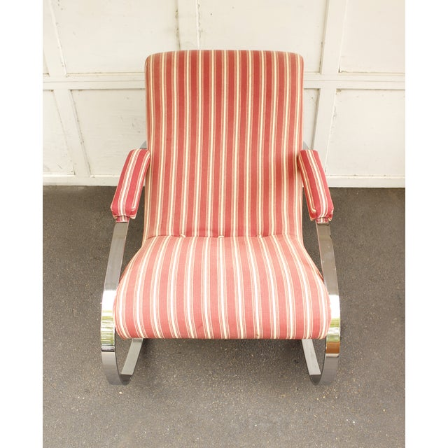 Guido Faleschini Mid-Century Chrome Rocking Chair - Image 7 of 9