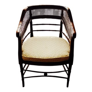 Vintage Chinese Chippendale Faux Bamboo Chair