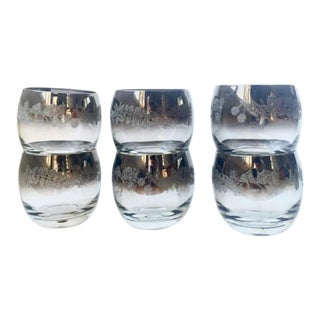 Dorothy Thorpe Etched Roly Poly Glasses - Set of 6