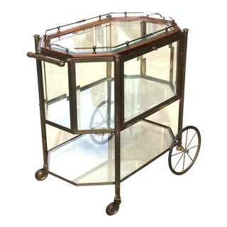 Vintage Hollywood Regency Bronze Tea Cart