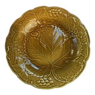 English Majolica Plate