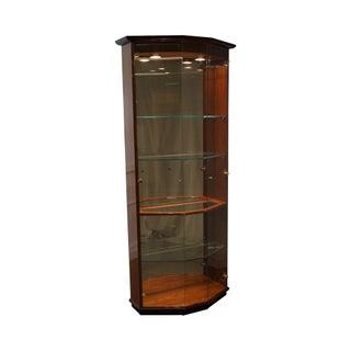 Henredon Modern Black & Mahogany Curio Display Cabinet