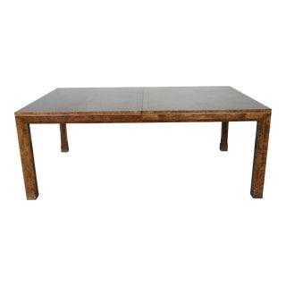 Master Burlwood Dining Table