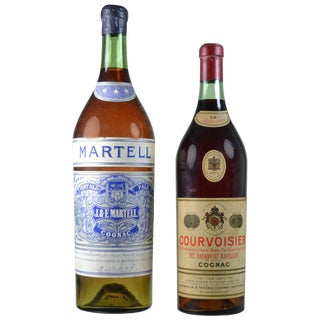 Vintage Store Display Cognac Bottles - A Pair