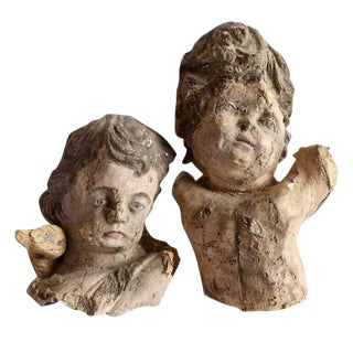Pair of 18th Century Papier Mâché Angels