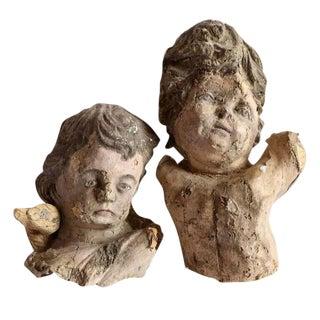 Pair of 18th Century Papier Mâché Angels
