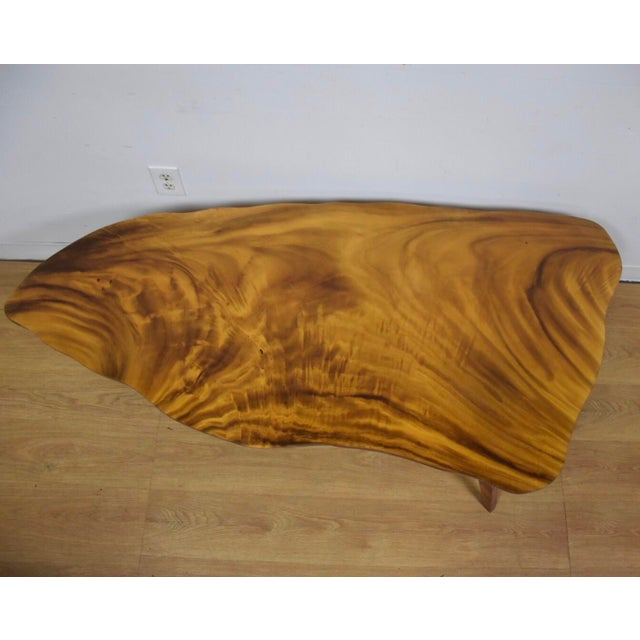 Vintage Mid Century Coffee Table Hawaiian Koa Wood By: Vintage Monkey Wood Coffee Table