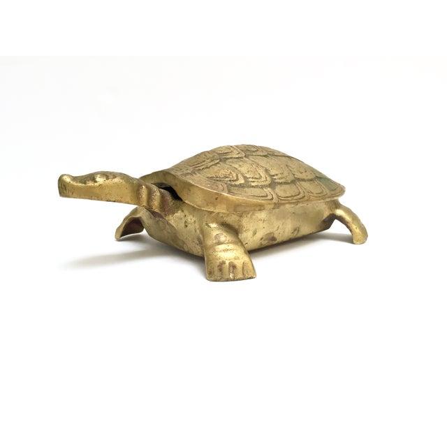 Antique Lidded Brass Turtle Trinket Box - Image 4 of 11