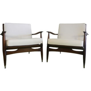 Mid-Century Modern Occasional Accent Chairs - A Pair