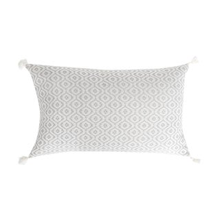 Mexican Grey Handwoven Pillow