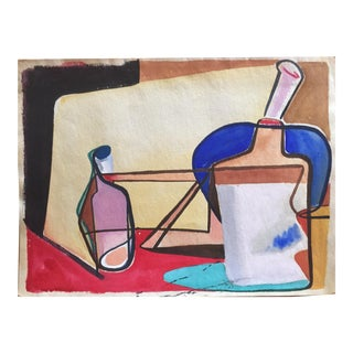 Mid Century Cubist Still Life Signed Jerry Opper