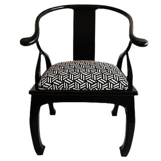 Black Lacquered Ming- Style Chair