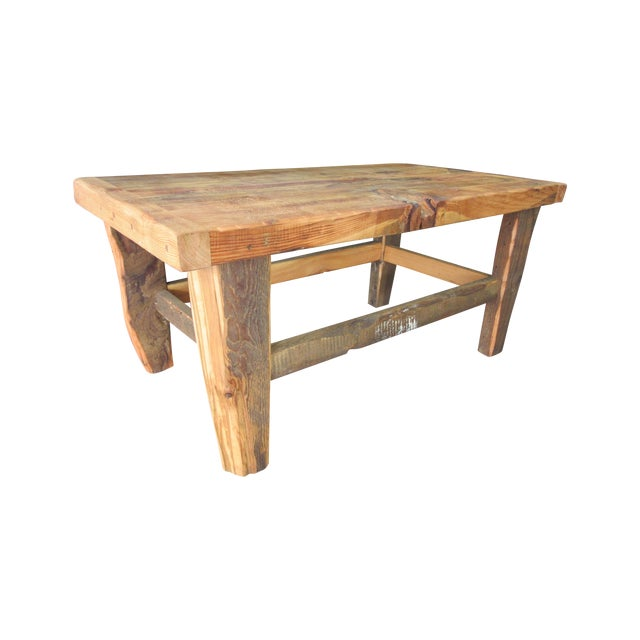 Rustic Reclaimed Pine Peg-Jointed Coffee Table - Image 1 of 11