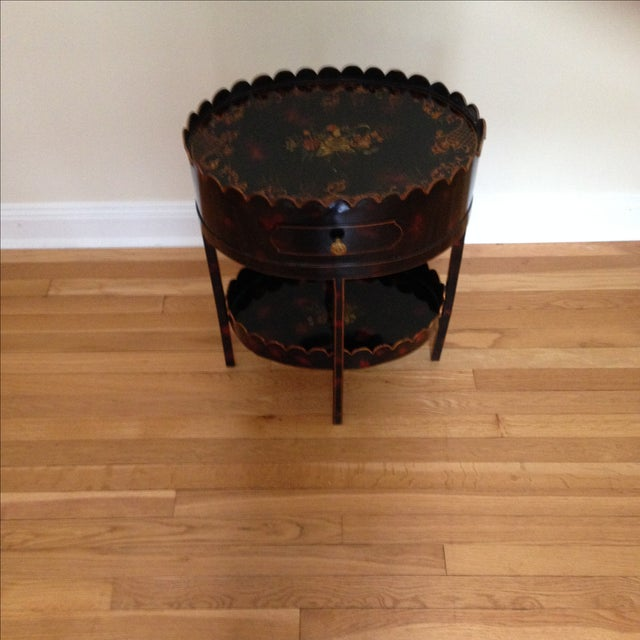 Image of Hand Painted Lacquered Accent Table