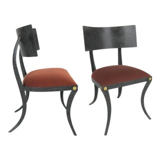 Set of Six Steel Klismos Chairs by Ched Berenguer-Topacio