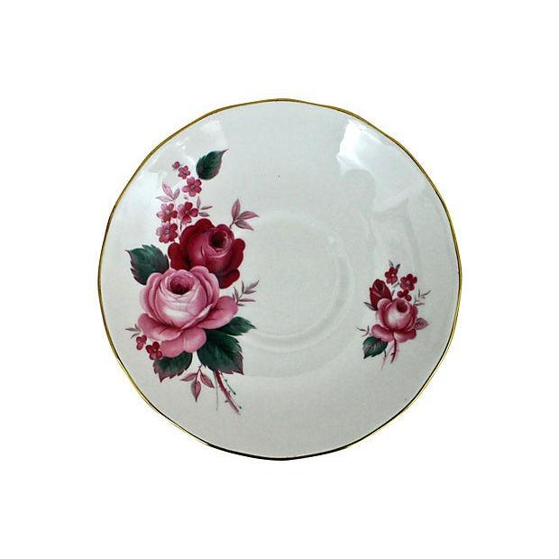 Queen Anne Teacup & Saucer - A Pair - Image 6 of 7