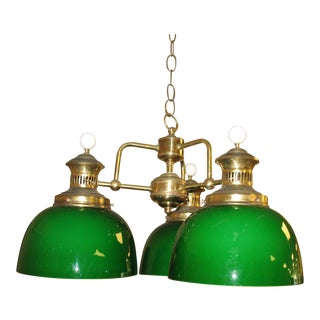 Vintage Green Globe Chandelier