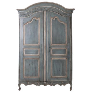 French Early 19th Century Painted Cherry Armoire