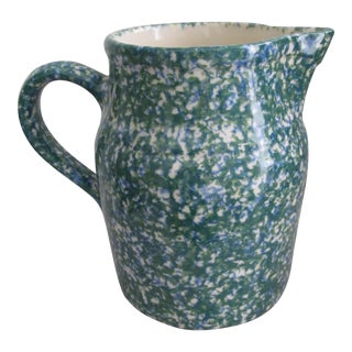 Roseville Pottery Spongeware Pitcher