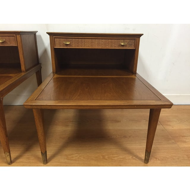 Mid Century Sculpted End Tables - a Pair - Image 4 of 11