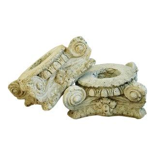 Antique Architectural Column Capitals - Pair